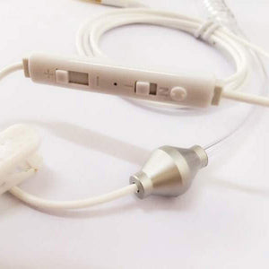 3.5mm Ear Jack Radiation-Proof Earphone for Cell Phones w/ Converter Cable - Silvery