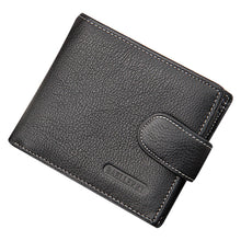 Men Fashion Classic Business Casual Leather Wallets Card Holder Purse Money Clip Short Wallet Bags