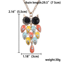 Korean Retro Charm Long Style Owl Pendant Sweater Chain with Chain Necklace