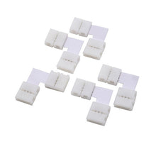 5 Pack L-shape 4Pin RGB 5050 LED Connector LED Strip Light Connectors