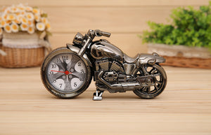 Cool Motorcycle Design Quartz Clock Alarm Time Keeper Timepiece Desktop