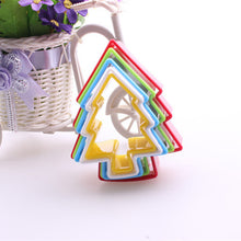 5-6pcs/set Plastic Cookie Cutter Cake Mold Biscuit Stamp Fondant Cake Decorating Tools Random Color