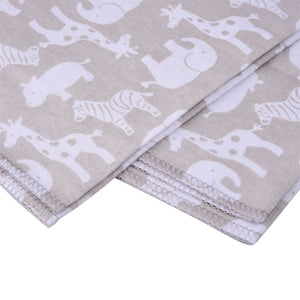 4 in 1 Set Latest Soft Flannel  Baby Bed Sheets Linen with Single Layer Printing