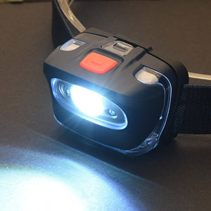 Headlamp Flashlight with White Cree LED and Red Light
