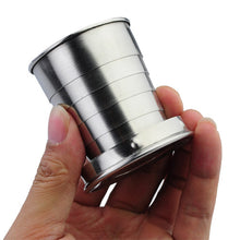 Portable Stainless Steel Six-layers Extension-type Keychain Cup Mug of Small Size