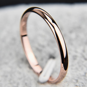 Fashion Jewelry Smooth Polishing Couple Rings Women Men Unisex Ring Rings Gifts