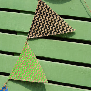 DIY12pcs Multicolor Jute Triangle Flag 3 Meters Wedding Banner Burlap Flags Linen Pennant Banner Christmas Wedding Party Props Decor Flag