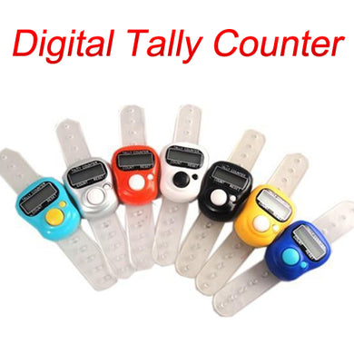NEW Digital 5 Digit Finger Ring Tally Counter