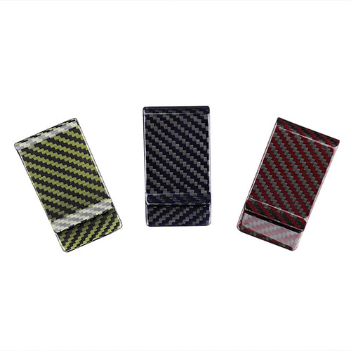 Carbon Fiber Money Clip - Colored - Carbon Fiber Junkie