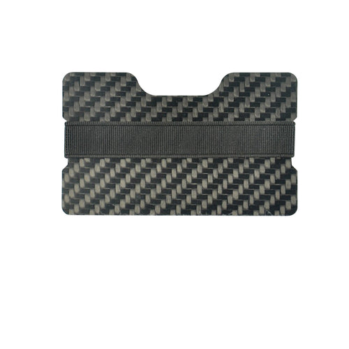 Carbon Fiber Credit Card Holder - Elastic Band - Carbon Fiber Junkie