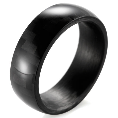 Domed Twill Weave Carbon Fiber Ring - Carbon Fiber Junkie