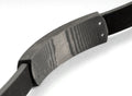 Dual Halo Carbon Fiber Bracelet with Leather Band - Carbon Fiber Junkie