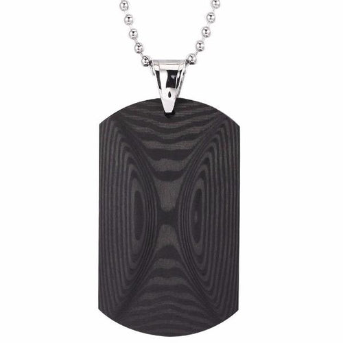 Dual Halo Carbon Fiber Dog Tag Necklace - Carbon Fiber Junkie