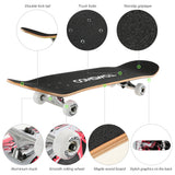 Strong Durable Skateboard Retro Cruiser Longboard - All about Wheels