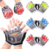 coloured cycling gloves, red, yellow, blue, black