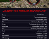 X6 Mountain Bike 24 Speed - Shimano Parts - All about Wheels