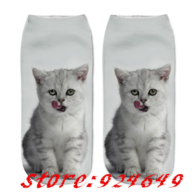 Cat Printed Socks For Men & Women