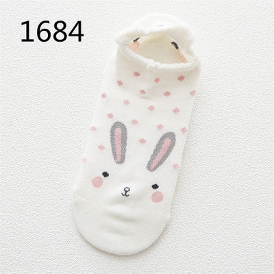 Cute Animal Cotton Socks for Female