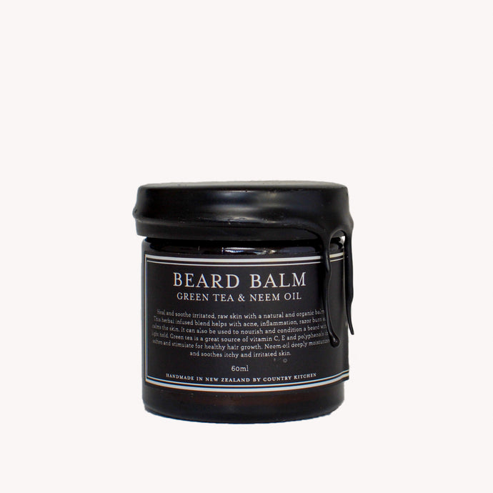 Country Kitchen Mens Beard Balm with Green Tea and Neem Oil