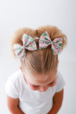 Botanical Floral Large Delilah Bow