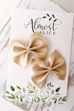 Soft Gold Mini Delilah Bows (Set of 2)