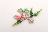 Botanical Floral Mini Delilah Set of 3- Headband or Clip