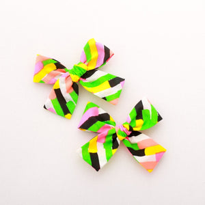 Neon Brush Strokes Isabella Bow
