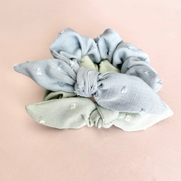 Swiss Dot Scrunchie Set of 2