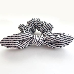 Black Stripe- Bunny Ears - Scrunchie