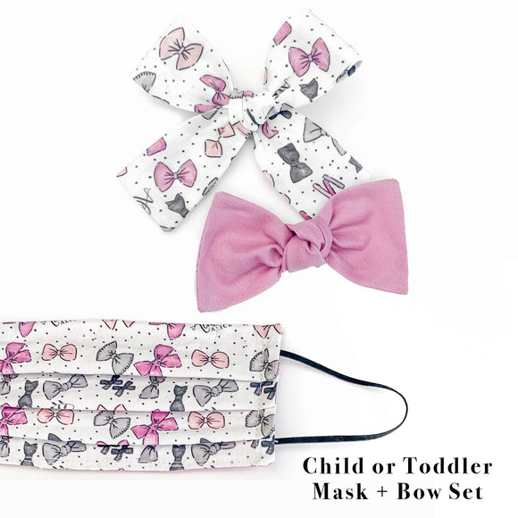 Almost Alice Bow Set + Mask- (Child or Toddler)