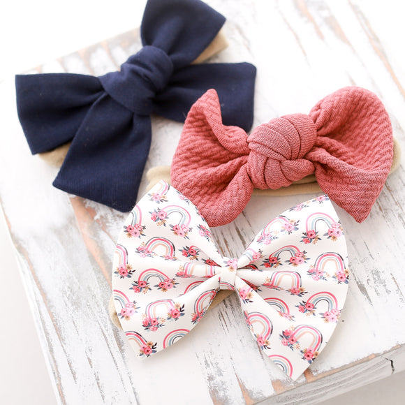 Floral Rainbows Set (3 Bows)