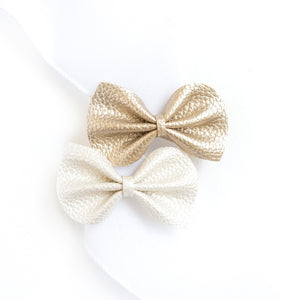 Pearl + Gold Reese Bows (Set of 2)