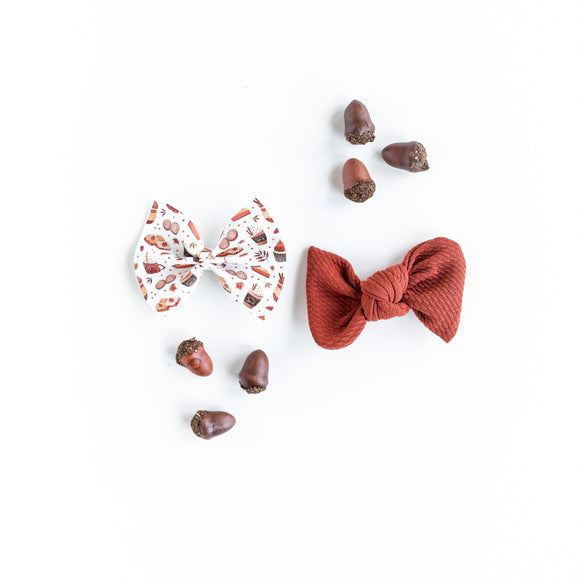 Pumpkin Spice Everything Set (Headband or Clip)