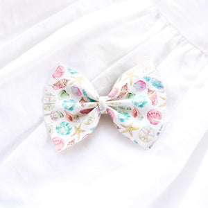 Watercolor Sea Shells Large Caroline Bow