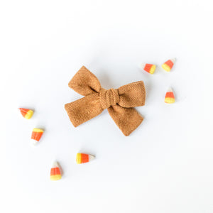 Apple Cider Herringbone Isabella Bow