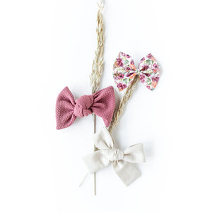 Wildwood Floral Bow Set (Headbands or Clips)