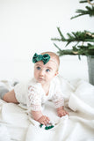 Emerald Crushed Velvet Madison Bow