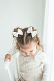 Pink Snow Mini Delilah Set- (Headband or Piggy Set)