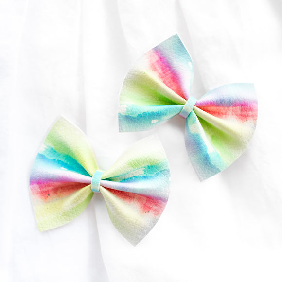 Tie Dye Mini Delilah Bows (Set of 2)