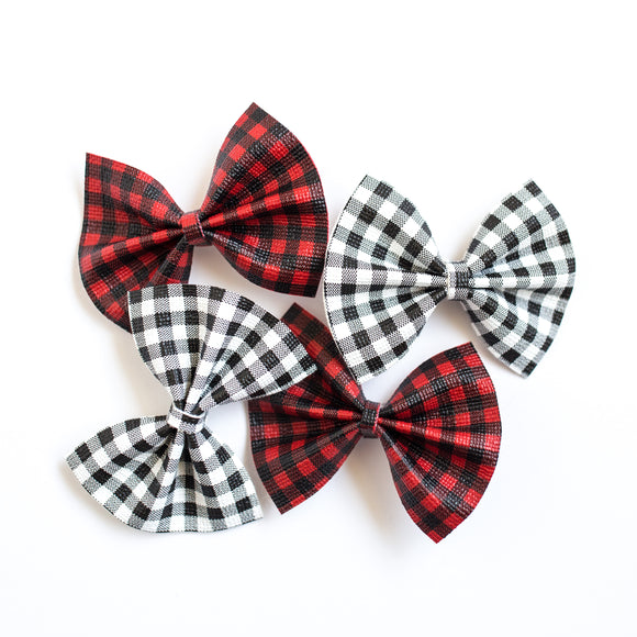 Buffalo Plaid Set- (Headband or Piggy Set)