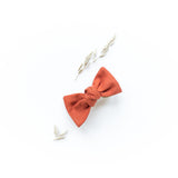 Harvest Orange Linen Sydnee Bow