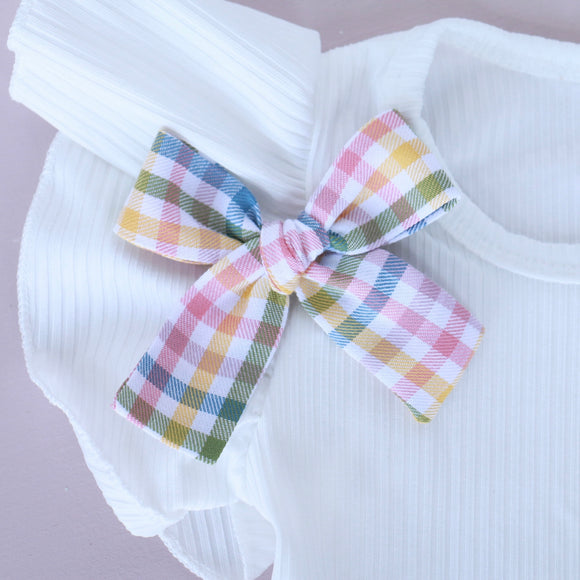 Spring Plaid Isabella Bow