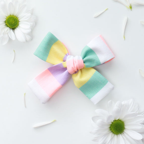 Bright Spring Striped Isabella Bow