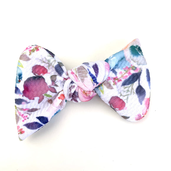 Watercolor Floral Madison Bow