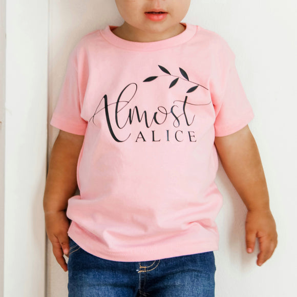 Almost Alice-Light Pink Tee- Child/Girls (Pre-Order)