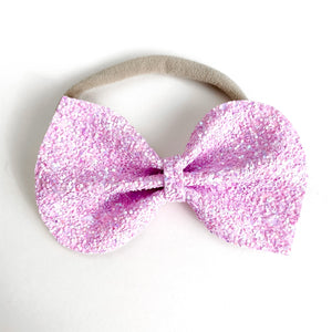 Pale Purple Glitter Large Reese Bow