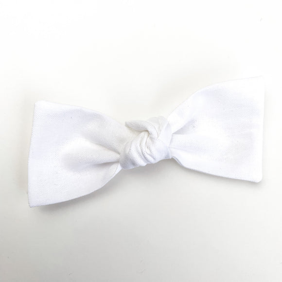 Solid White Sydnee Bow