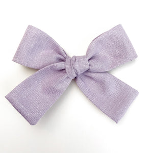 Purple Shimmer Isabella Bow