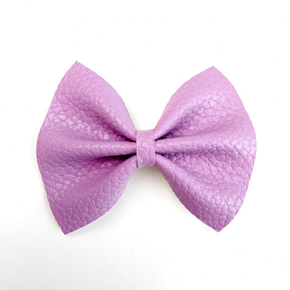 Light Purple Pebbled Small Delilah Bow