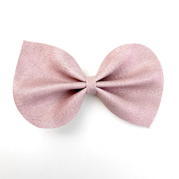 Dusty Rose Shimmer Large Reese Bow